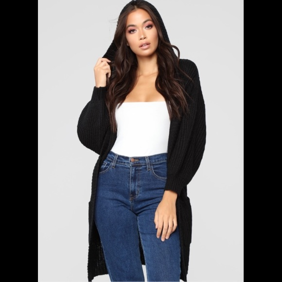 Fashion Nova Sweaters - Hooded Cardigan with pockets